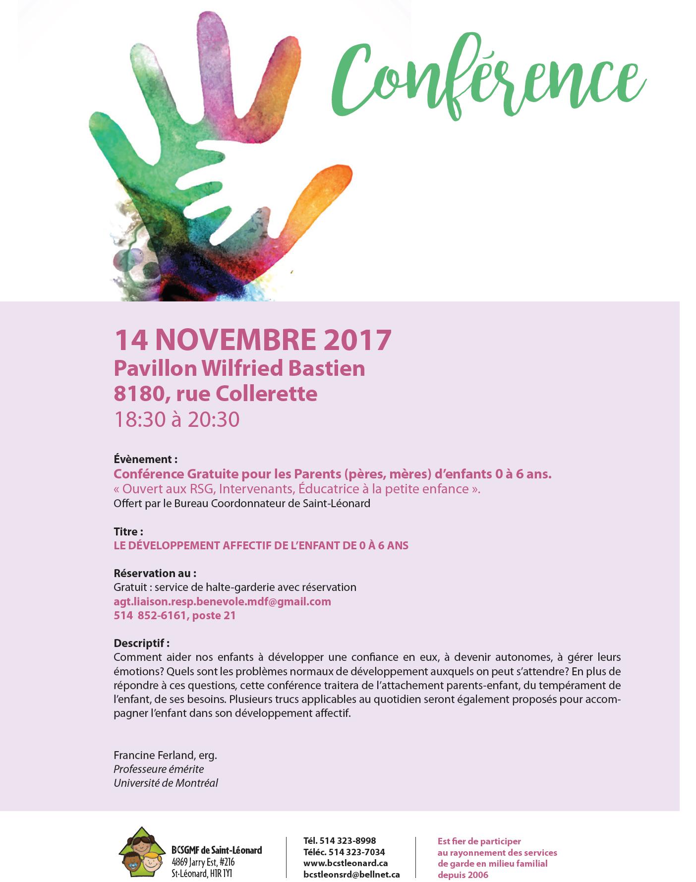 Conférence parents novembre 2017